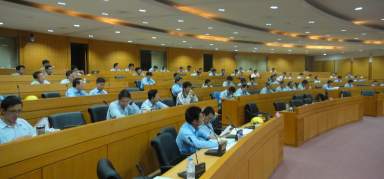 "We hold a seminar under the subject of ""  Saving water energy conservation""  in FPG Mailiao factory on Aug. 19, 2011."