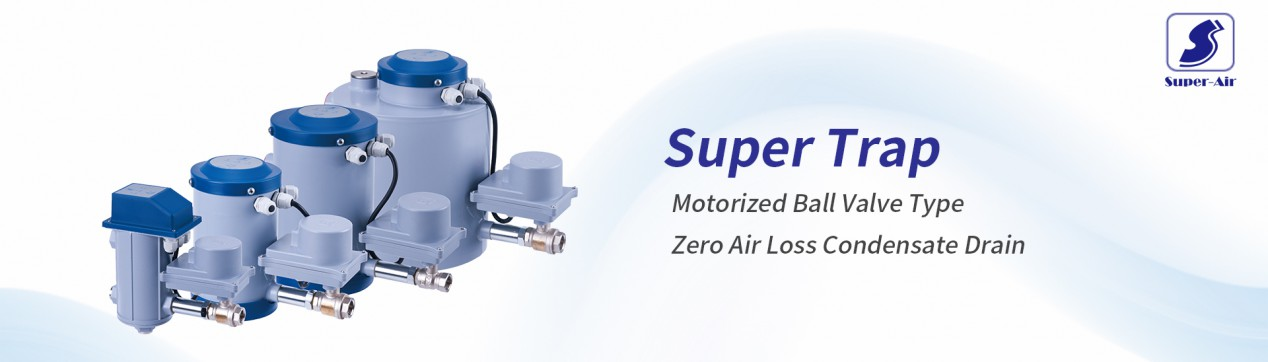 Super Trap Motorized Ball Valve Type Zero Air Loss Condensate Drain